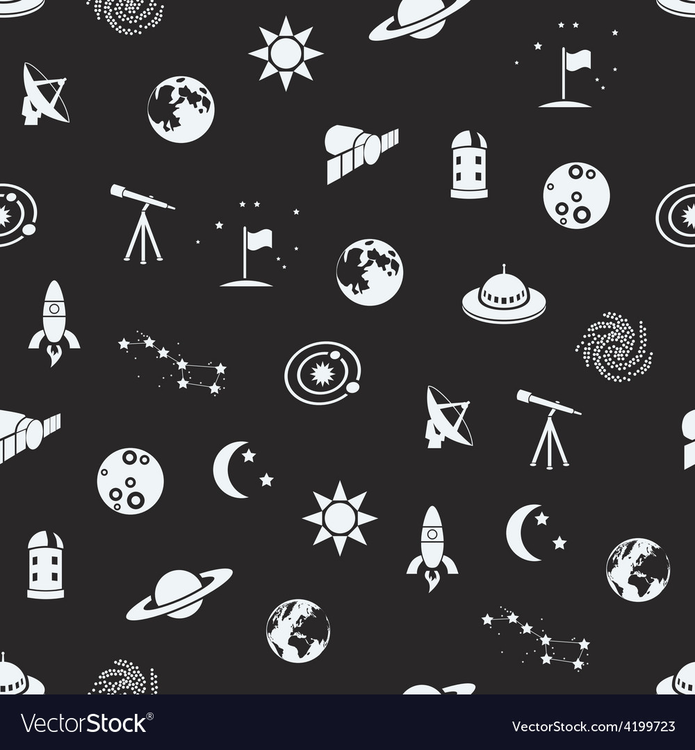 Seamless space patter vector | Price: 1 Credit (USD $1)