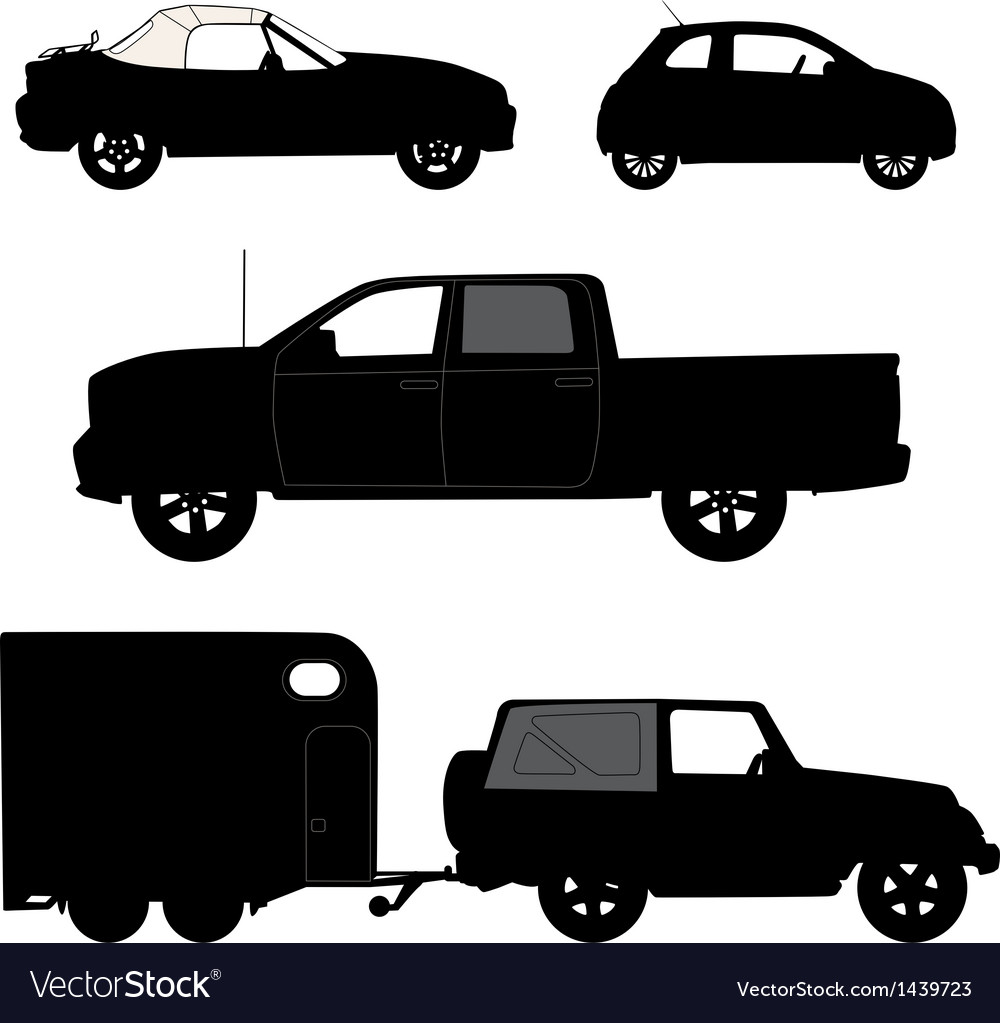 Transportation icons collection cars vector | Price: 1 Credit (USD $1)