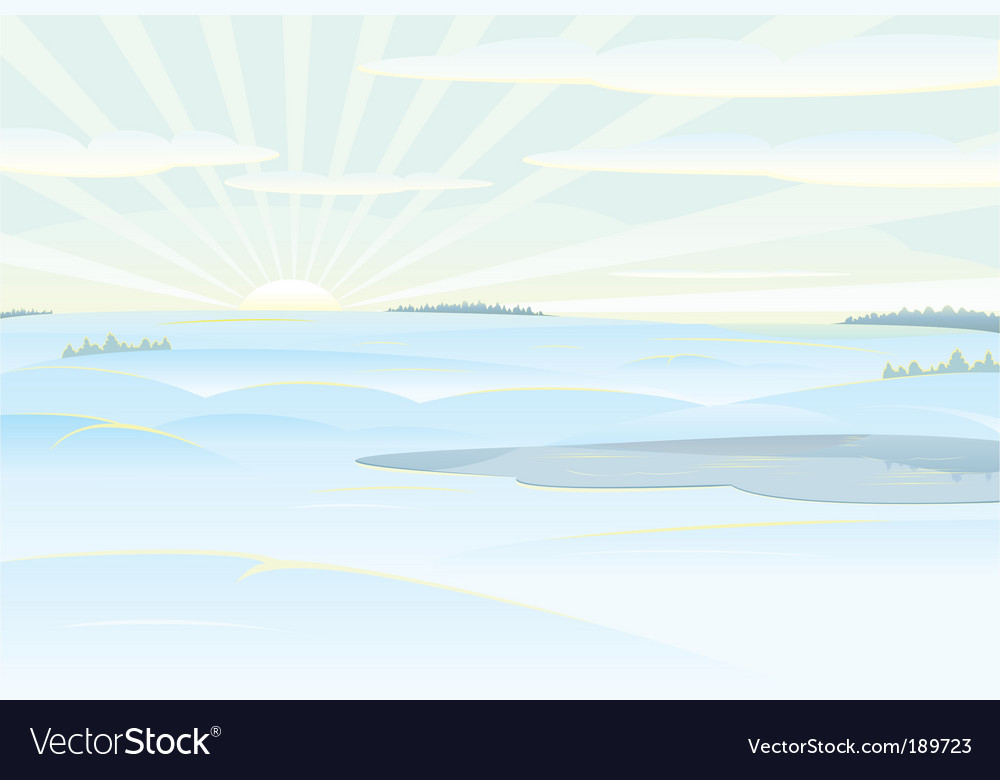 Winter day vector | Price: 1 Credit (USD $1)