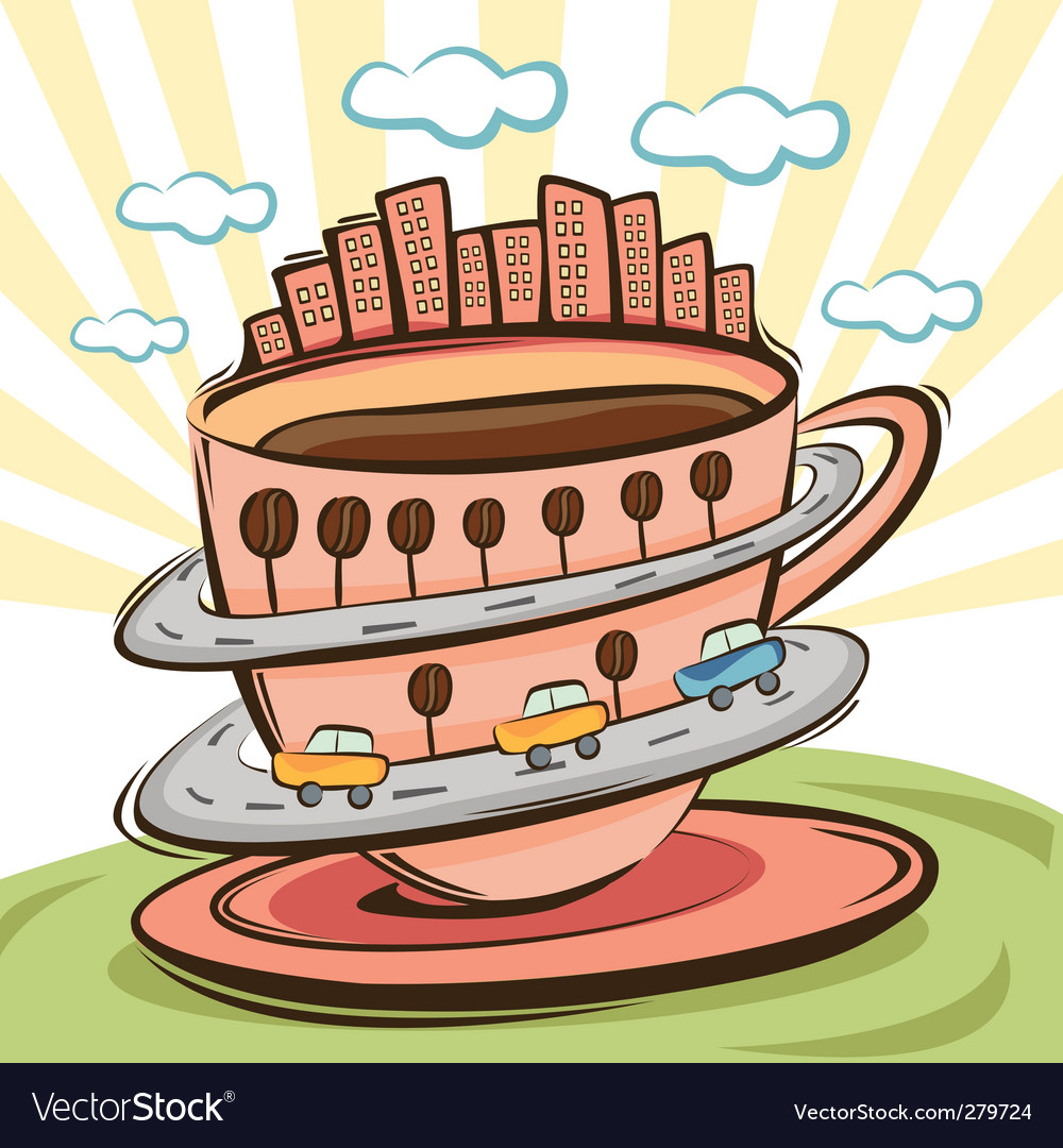 Coffee city vector | Price: 1 Credit (USD $1)