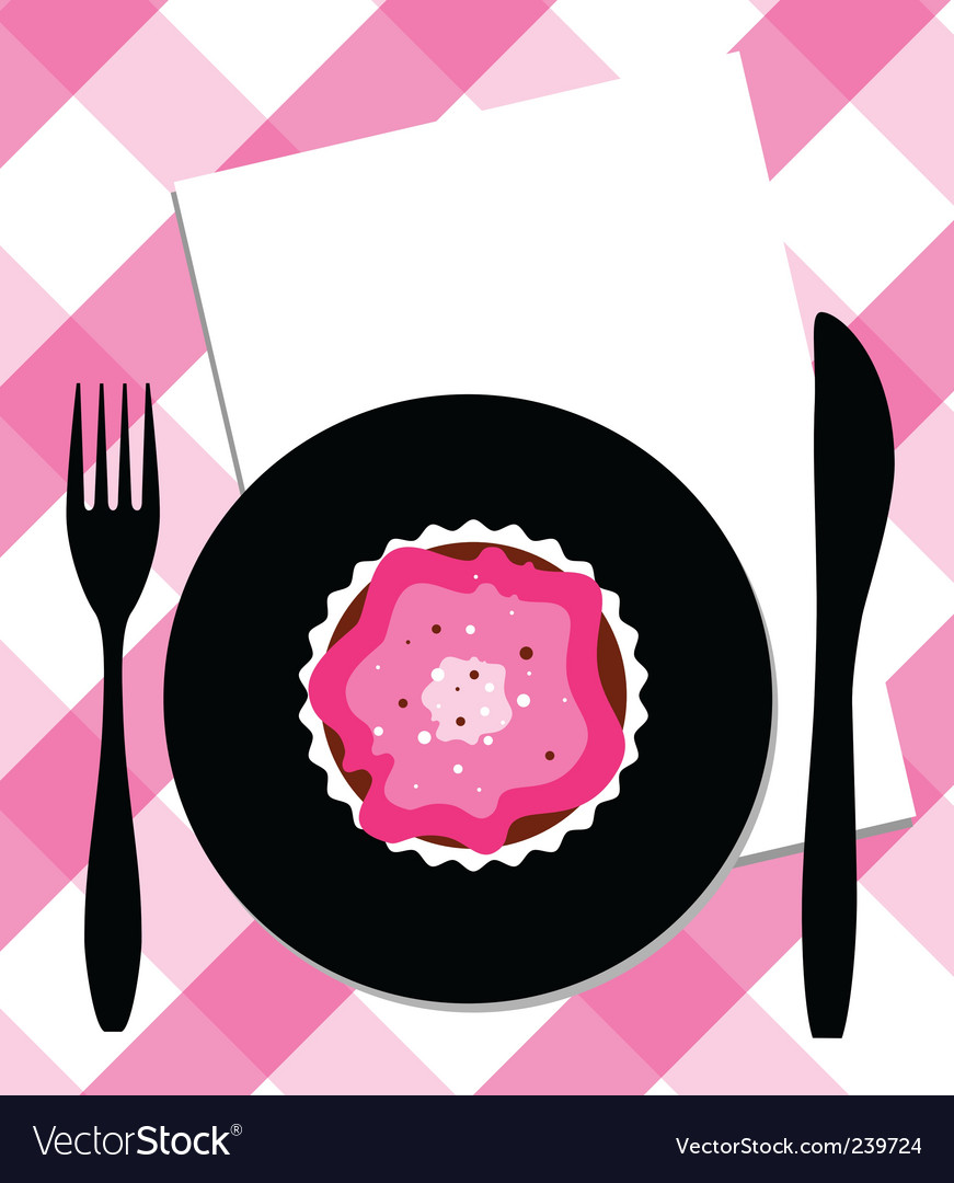 Dessert on plate vector | Price: 1 Credit (USD $1)