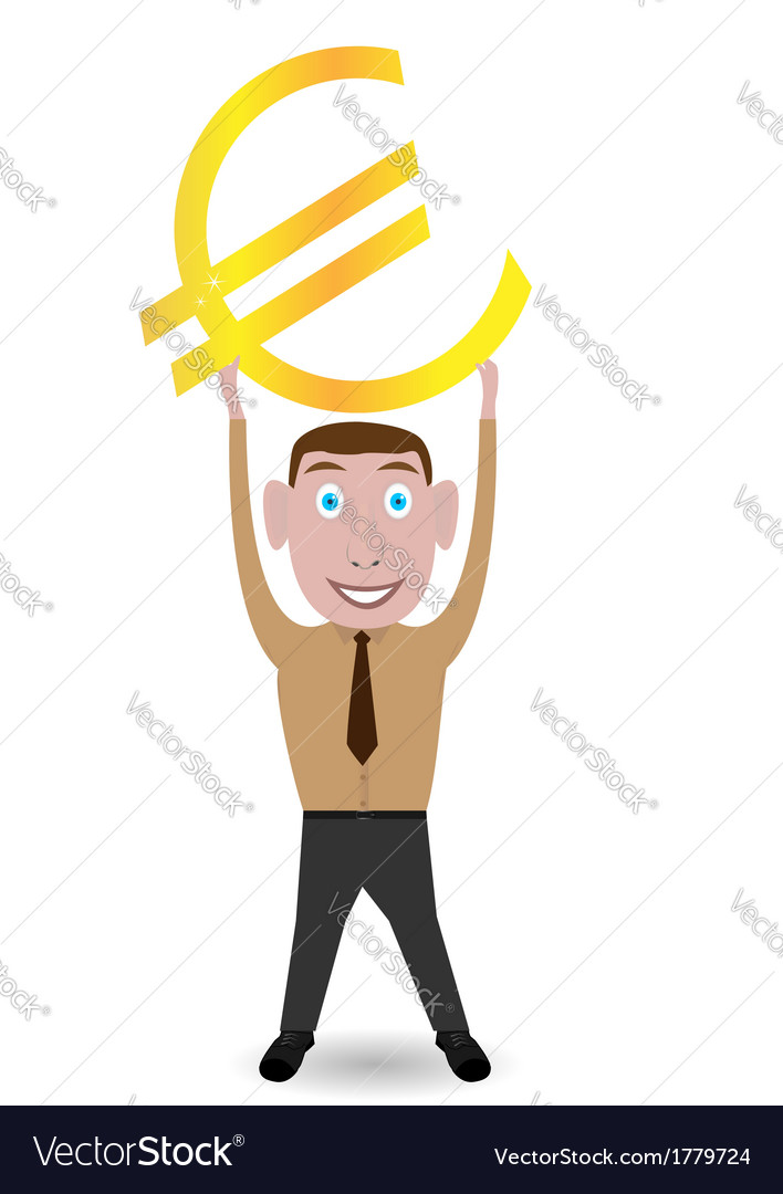 Man with euro sign vector | Price: 1 Credit (USD $1)