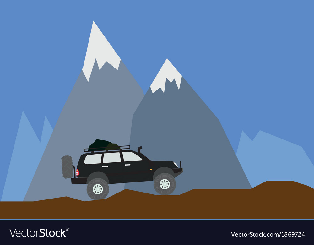 Off road mountain vector | Price: 1 Credit (USD $1)