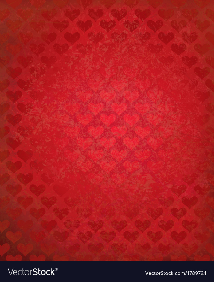 Red hearts background vector | Price: 1 Credit (USD $1)