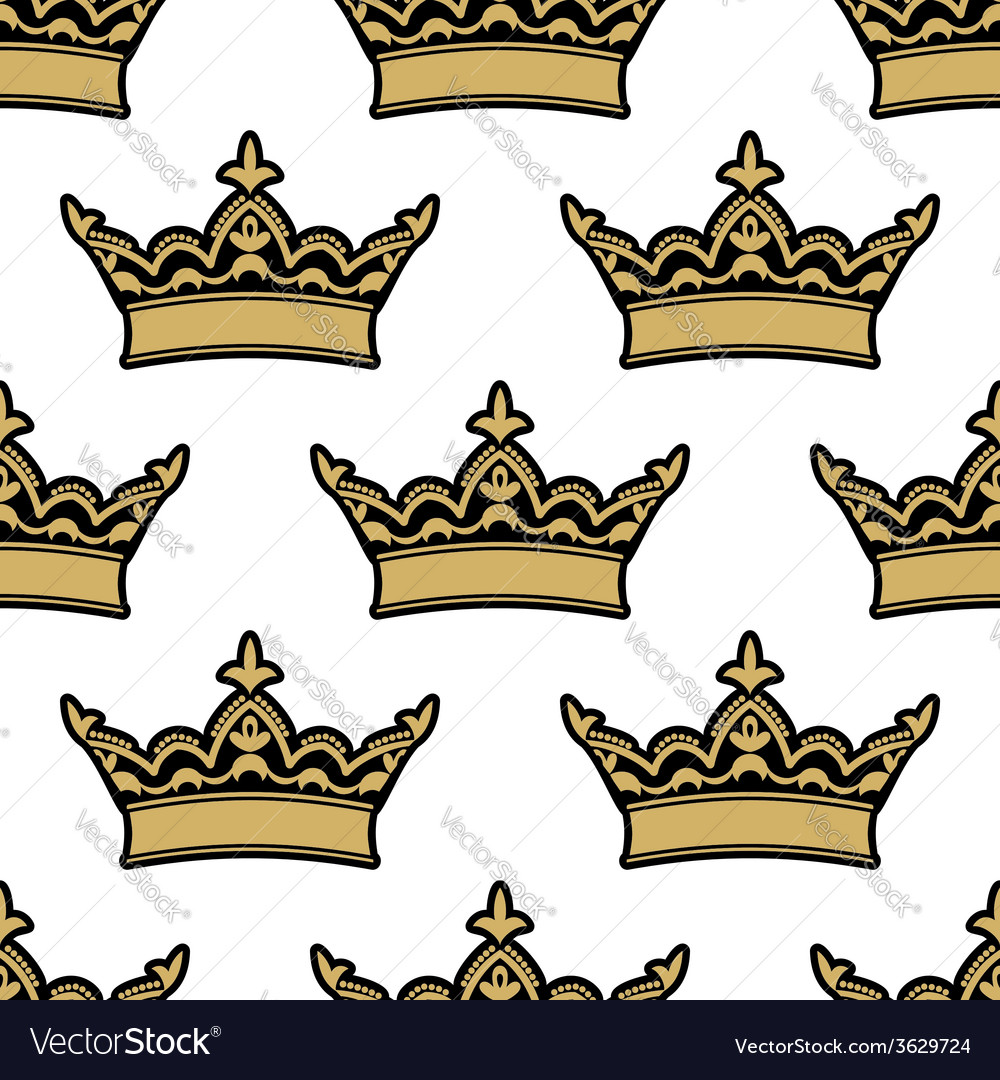 Royal heraldic seamless pattern vector | Price: 1 Credit (USD $1)