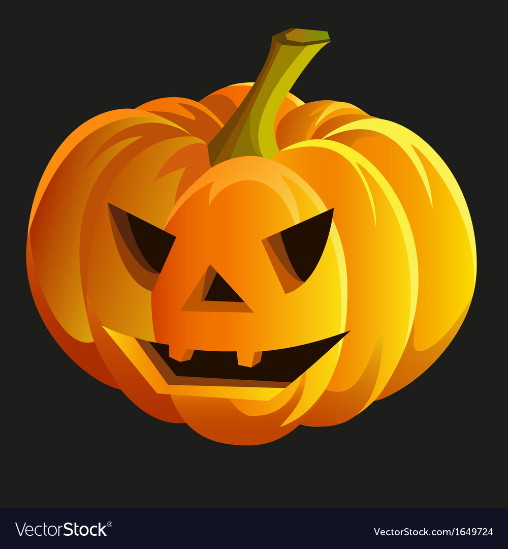 Scary halloween pumpkin vector | Price: 1 Credit (USD $1)