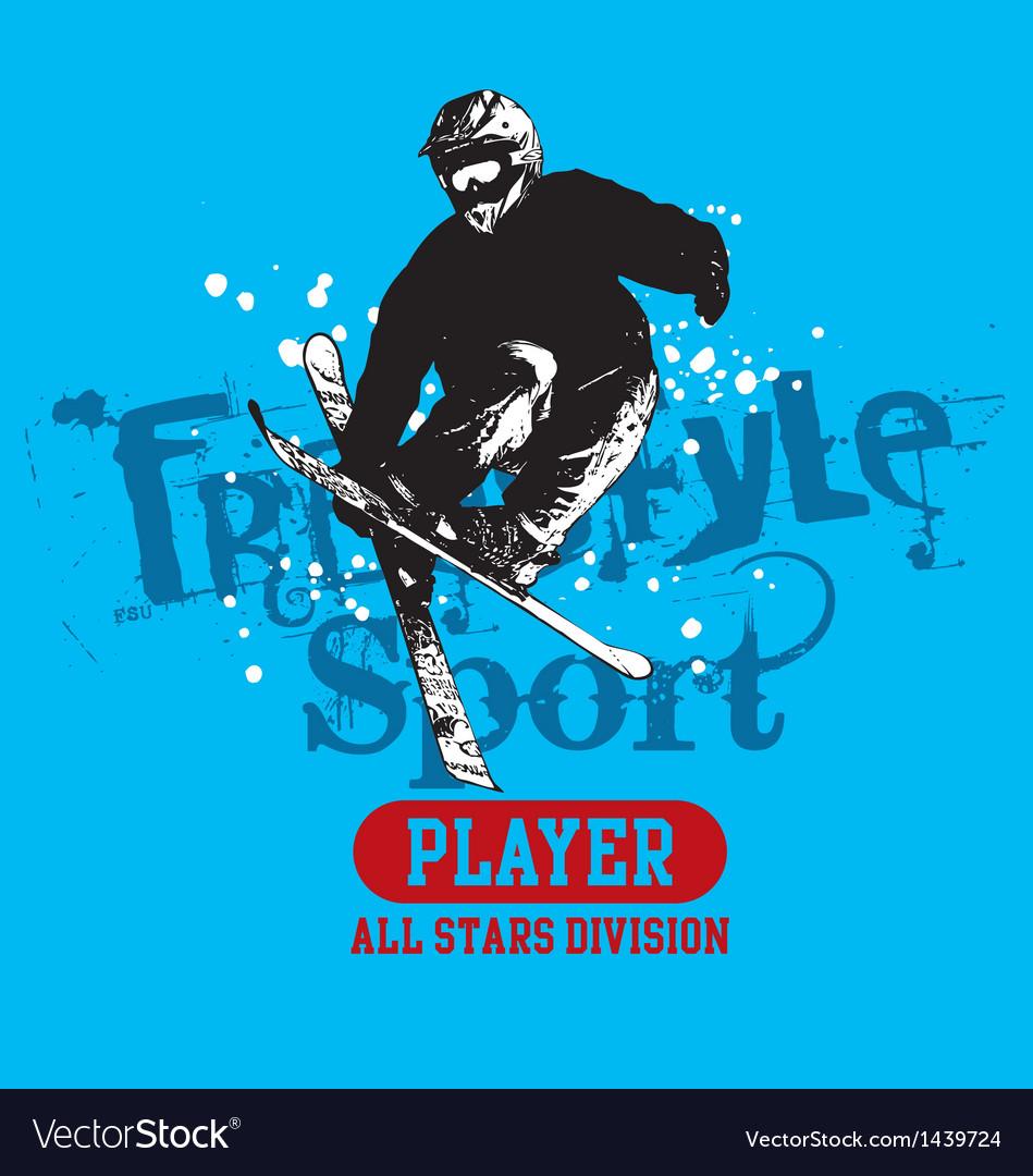 Snow skate vector | Price: 1 Credit (USD $1)