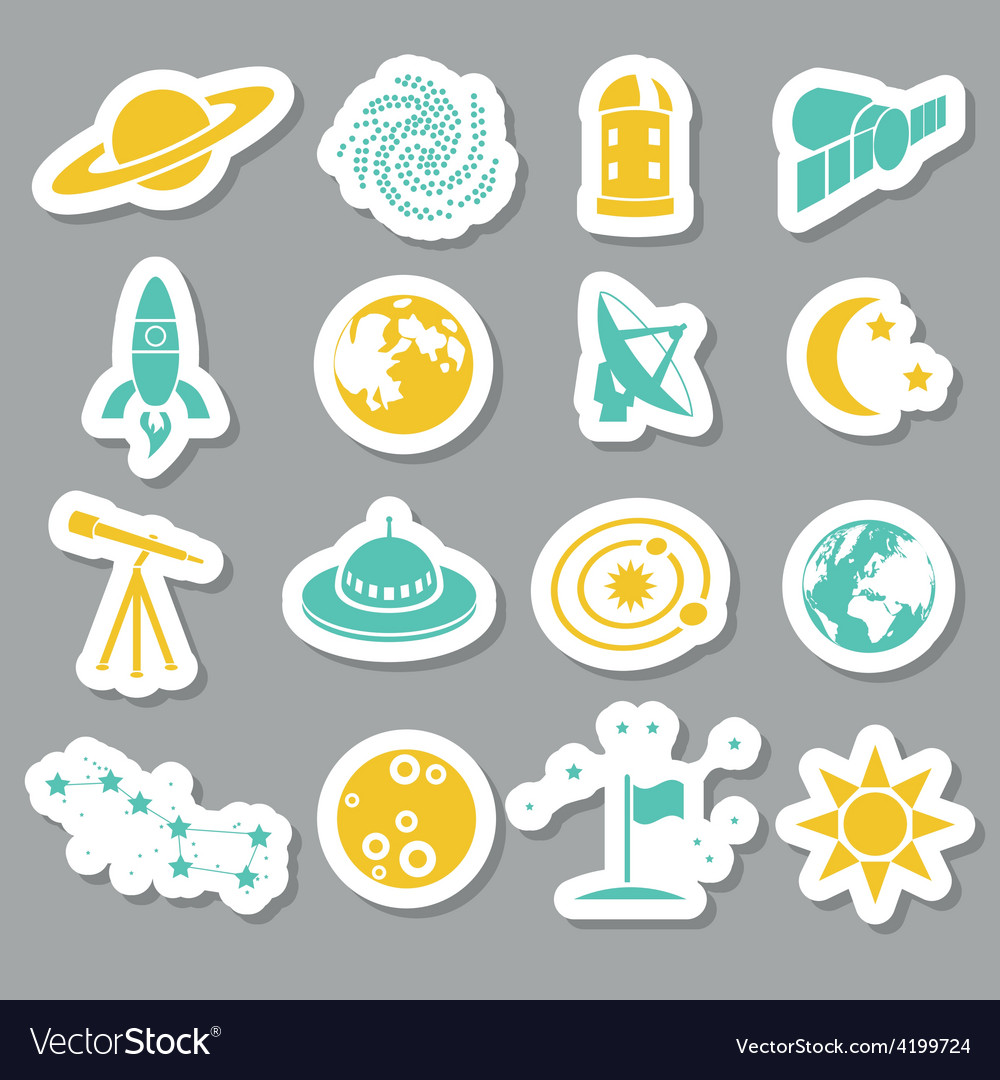 Space stickers vector | Price: 1 Credit (USD $1)