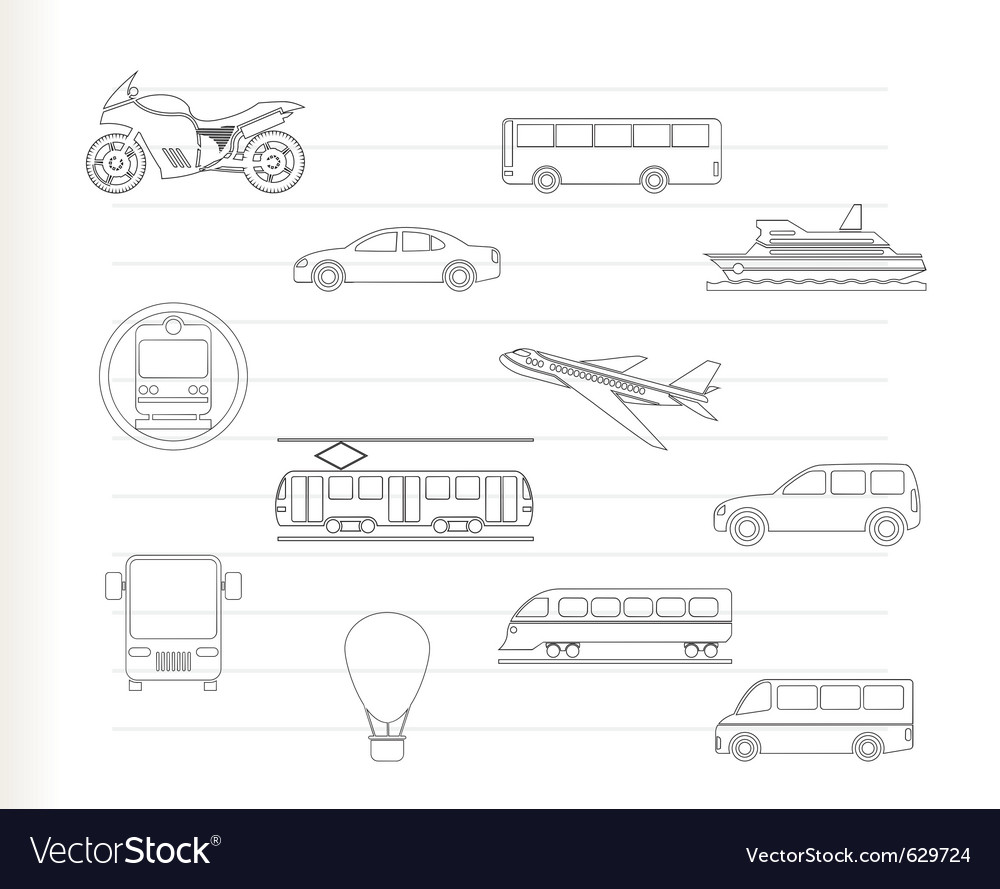 Travel and transportation vector | Price: 1 Credit (USD $1)