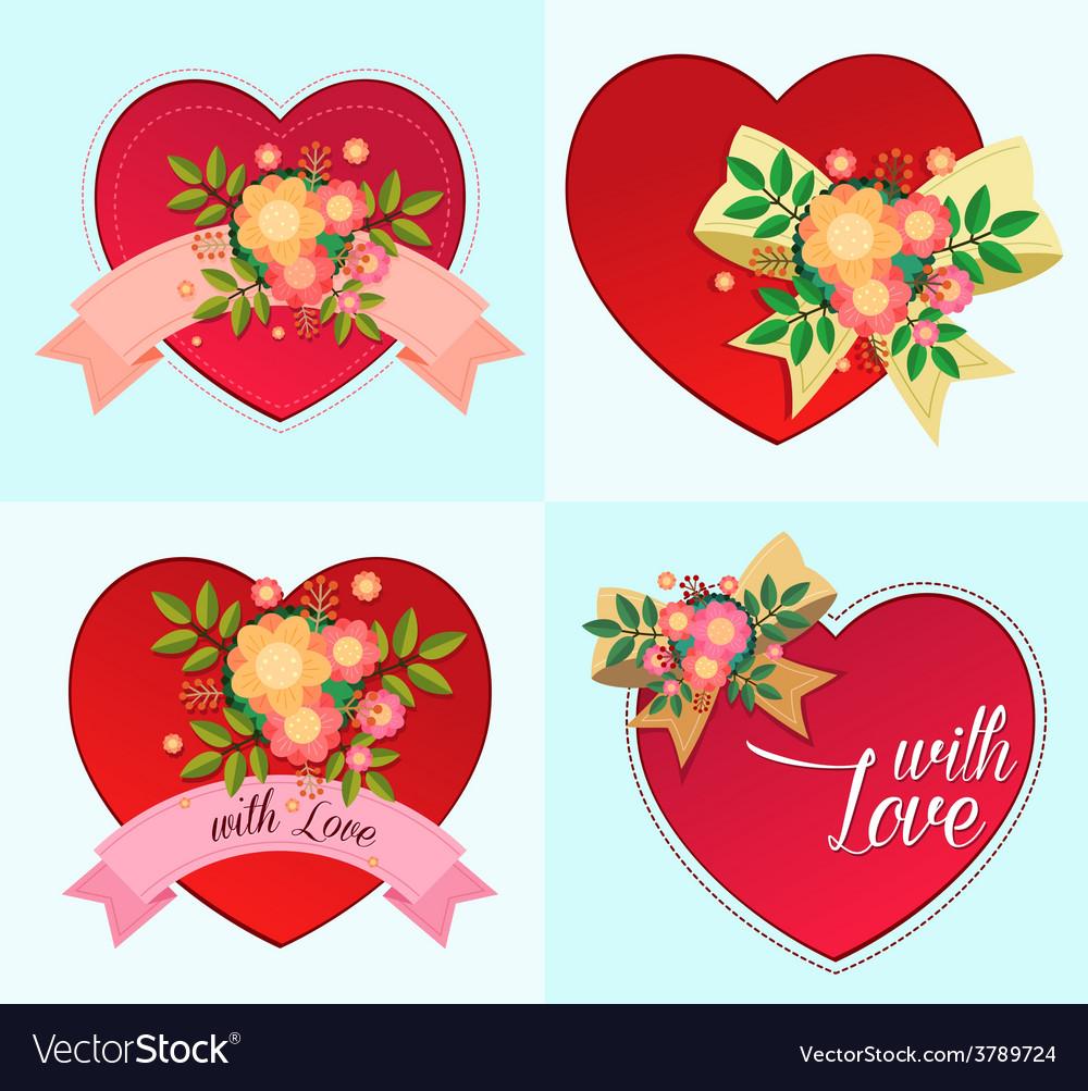 Various decorative heart symbol vector | Price: 1 Credit (USD $1)