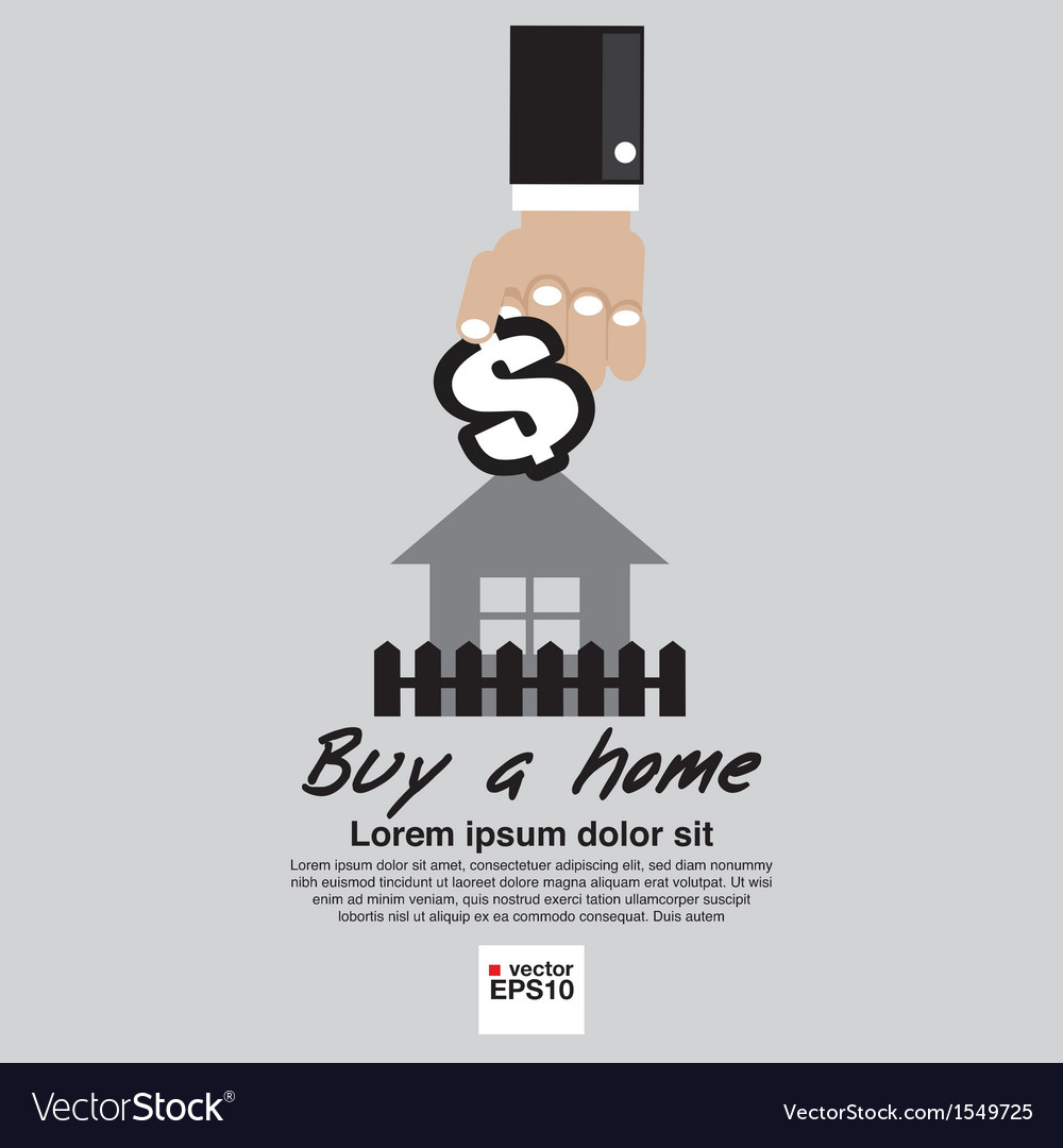 Buying home concept eps10 vector | Price: 1 Credit (USD $1)
