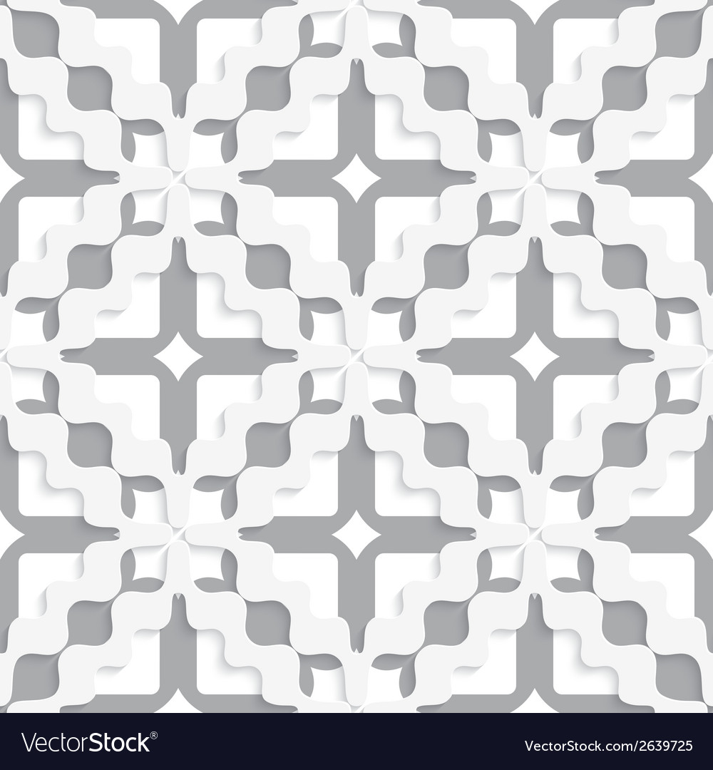 Diagonal white and gray wavy squares vector | Price: 1 Credit (USD $1)