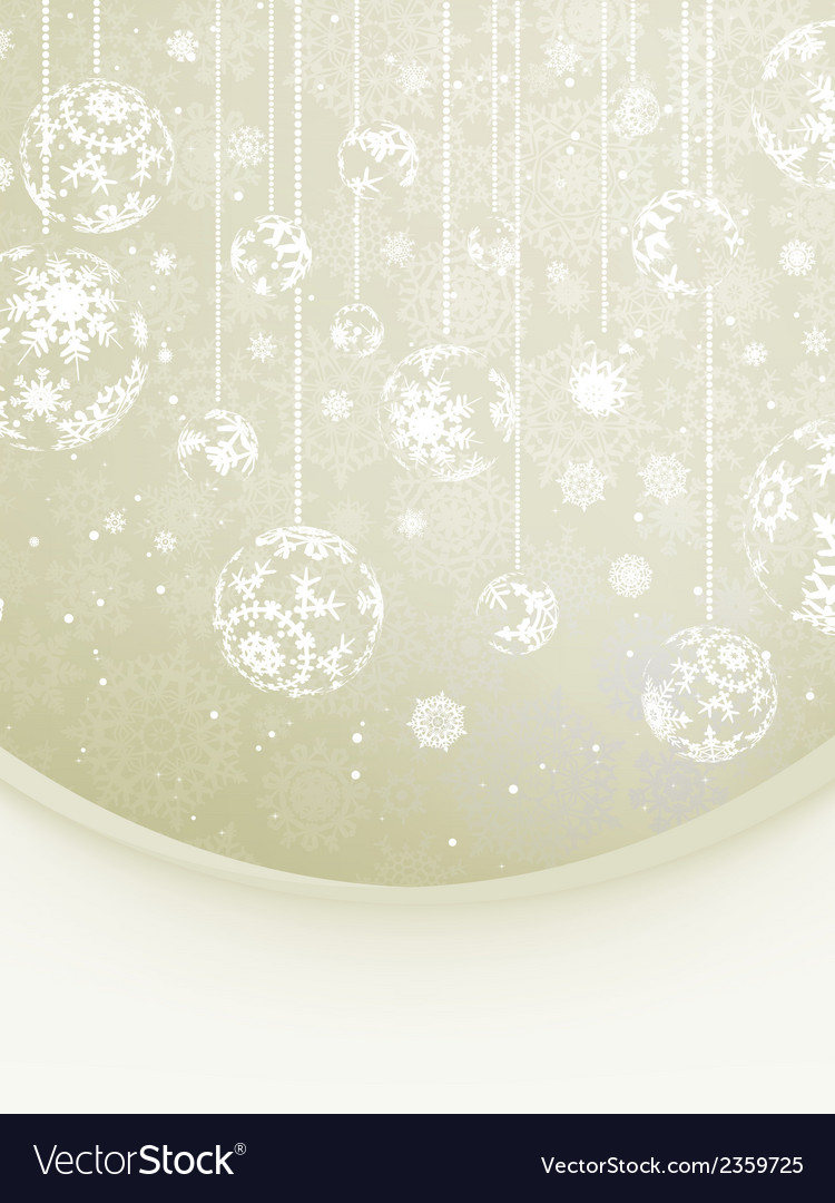 Elegant christmas with snowflakes eps 8 vector | Price: 1 Credit (USD $1)