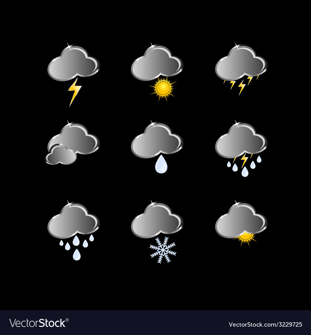 Icons for weather forecast vector | Price: 1 Credit (USD $1)