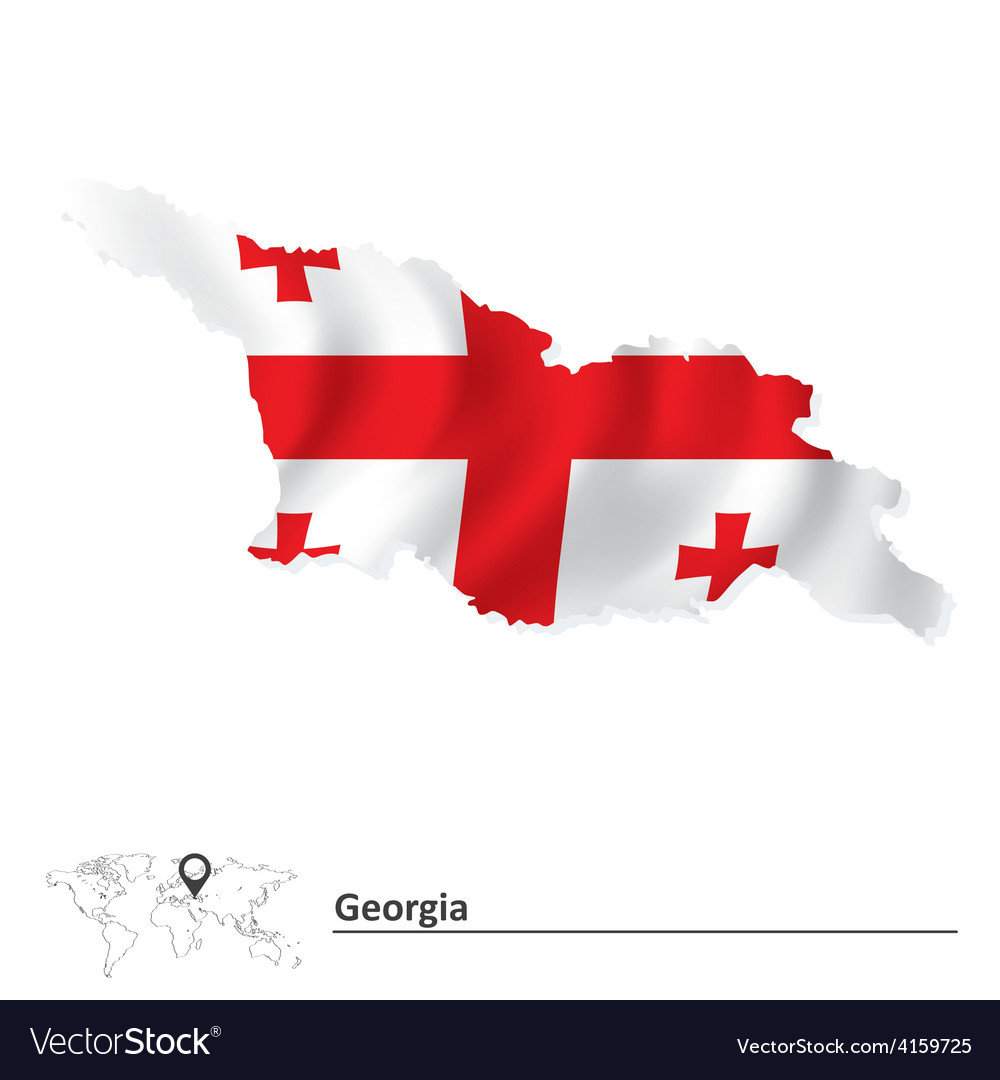 Map of georgia with flag vector   Price: 1 Credit (USD $1)