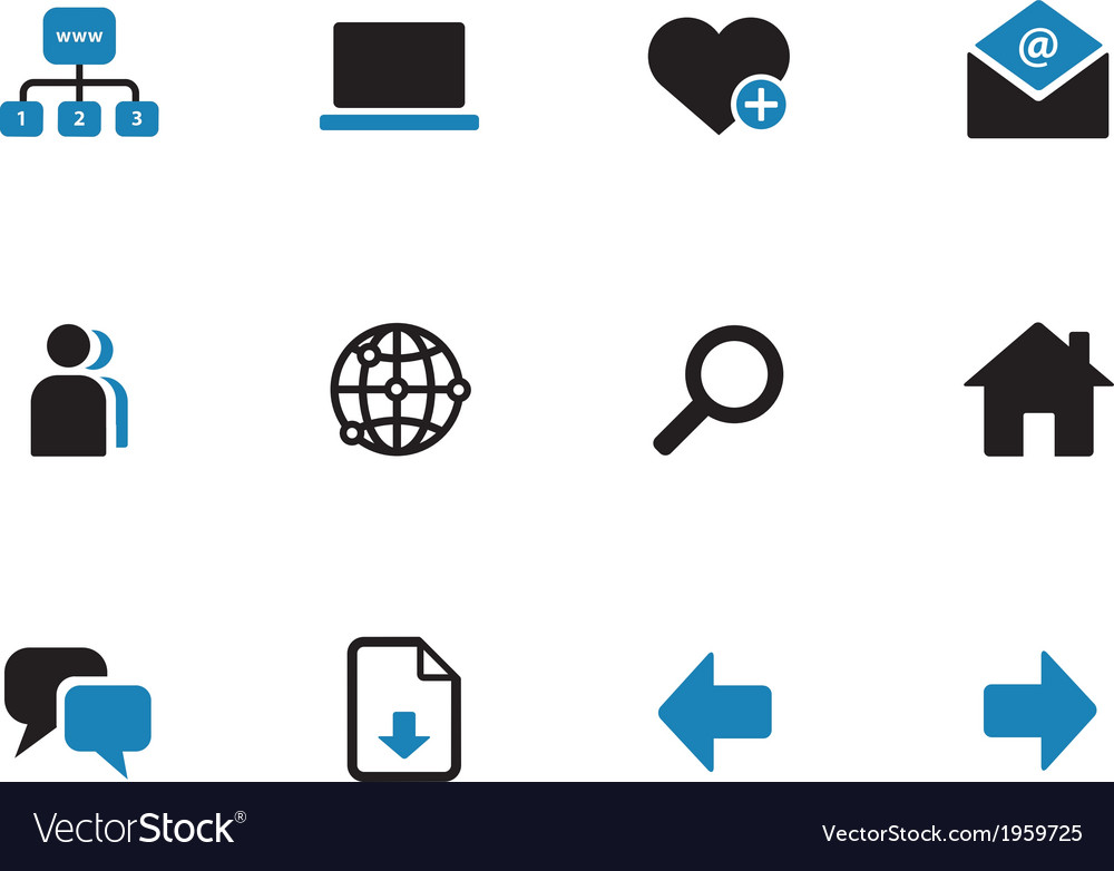 Network duotone icons on white background vector   Price: 1 Credit (USD $1)