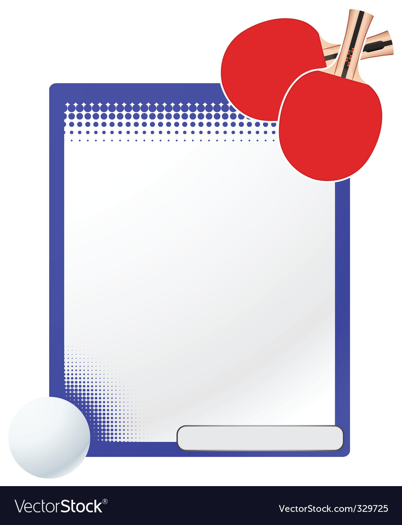 table tennis template vector | Price: 1 Credit (USD $1)