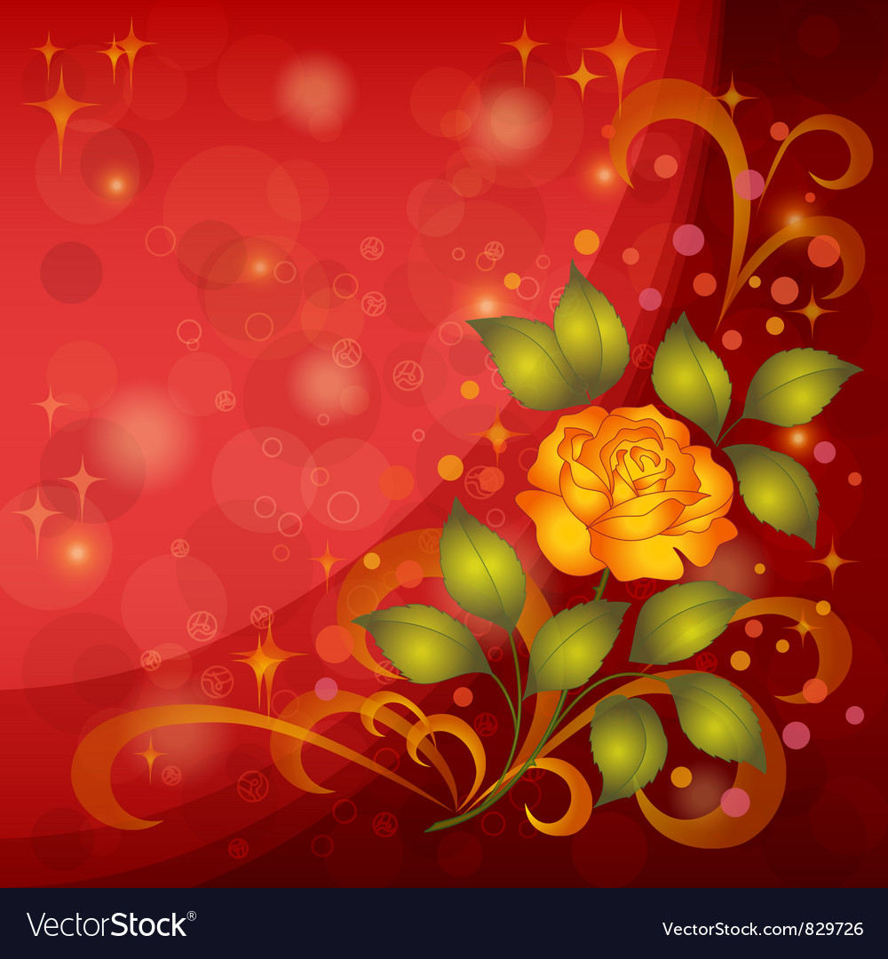 Background with rose vector | Price: 1 Credit (USD $1)