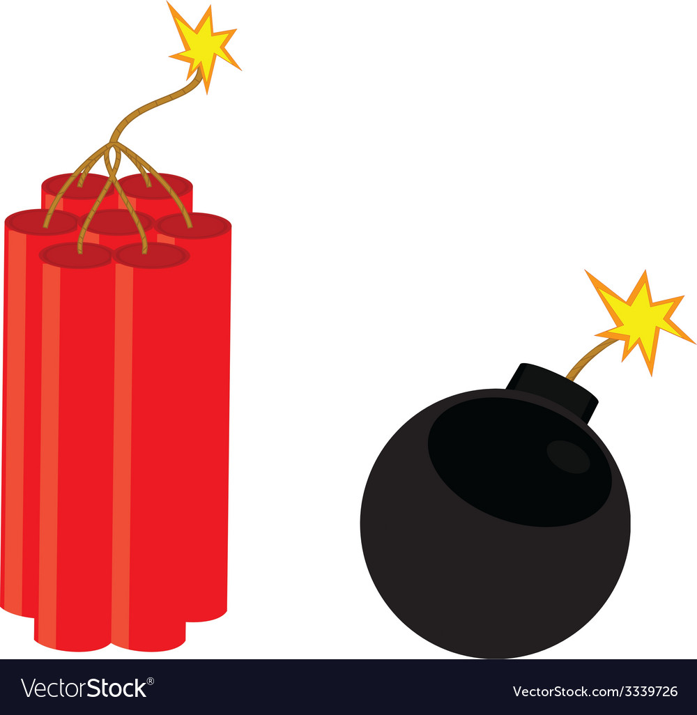 Bomb and dynamite vector | Price: 1 Credit (USD $1)