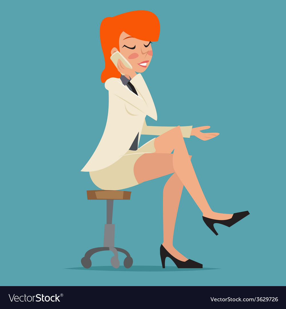 Cartoon business woman happy smiling lady vector | Price: 1 Credit (USD $1)