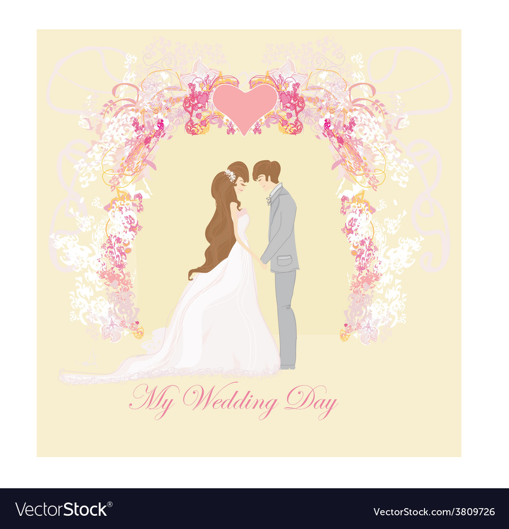 Elegant wedding invitation vector | Price: 1 Credit (USD $1)
