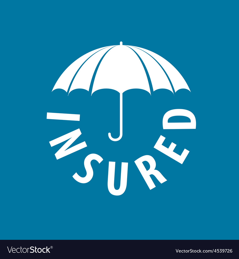 Logo under the protection umbrella vector | Price: 1 Credit (USD $1)