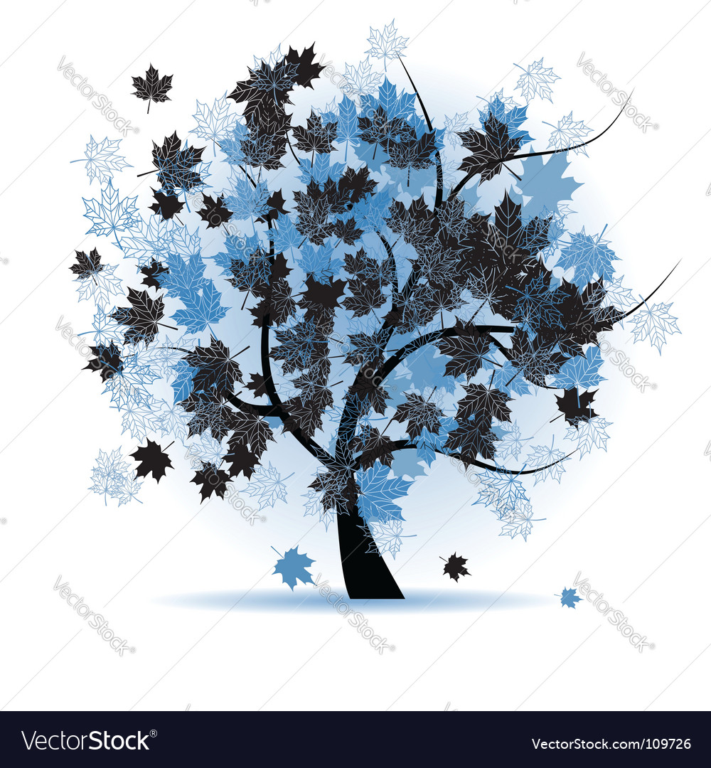 Maple tree autumn leaf fall vector | Price: 1 Credit (USD $1)