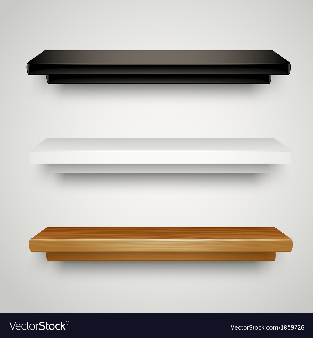 Modern shelves vector