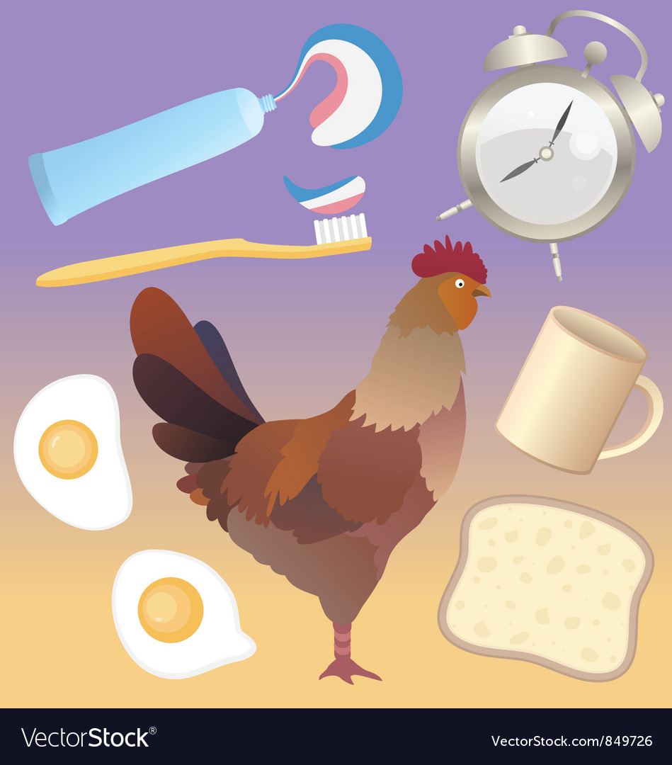 Morning breakfast pack vector | Price: 1 Credit (USD $1)