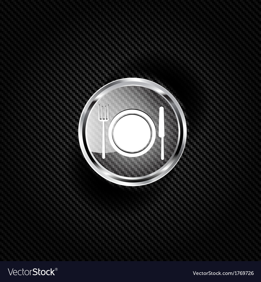 Plate web icon vector | Price: 1 Credit (USD $1)
