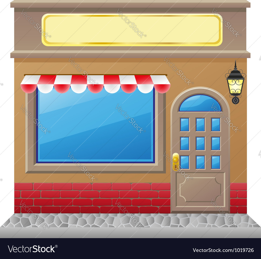 Shop facade 01 vector | Price: 1 Credit (USD $1)