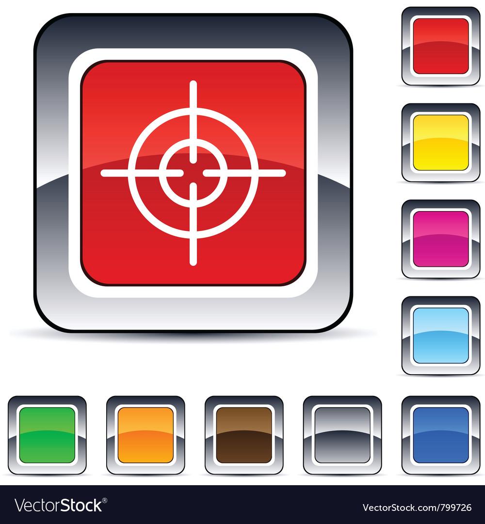 Sight square button vector | Price: 1 Credit (USD $1)