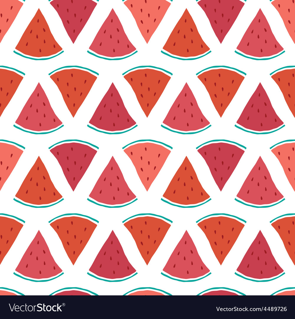 Tasty watermelon slices seamless pattern vector | Price: 1 Credit (USD $1)