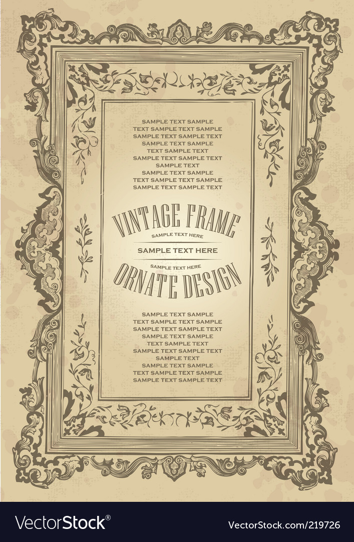 Vintage frame design vector | Price: 1 Credit (USD $1)