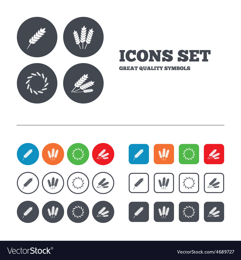 Agricultural icons gluten free symbols vector   Price: 1 Credit (USD $1)