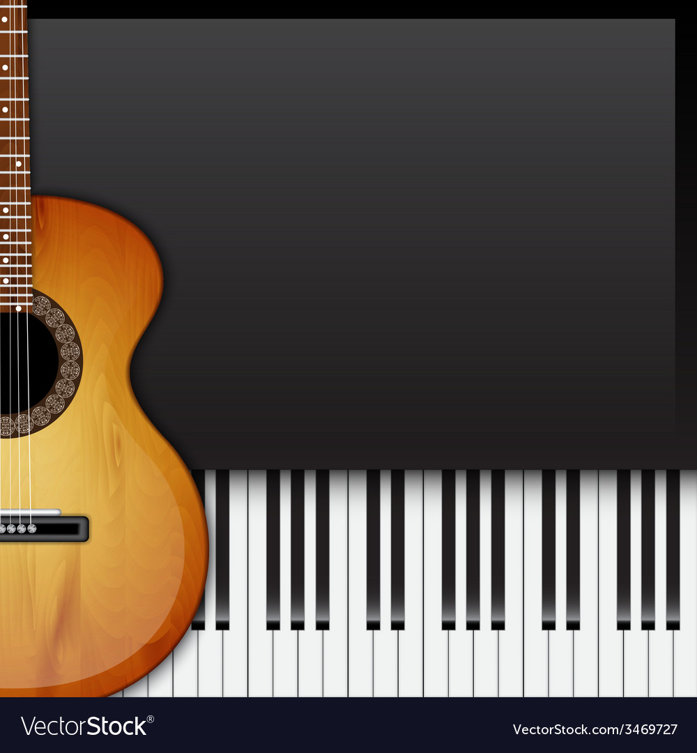 Background with piano keys vector | Price: 1 Credit (USD $1)