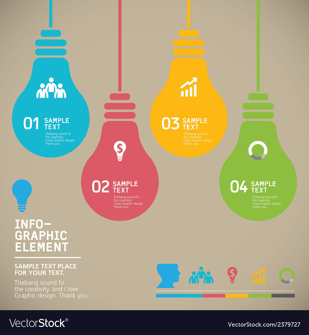 Bulb icon with idea concept vector   Price: 1 Credit (USD $1)