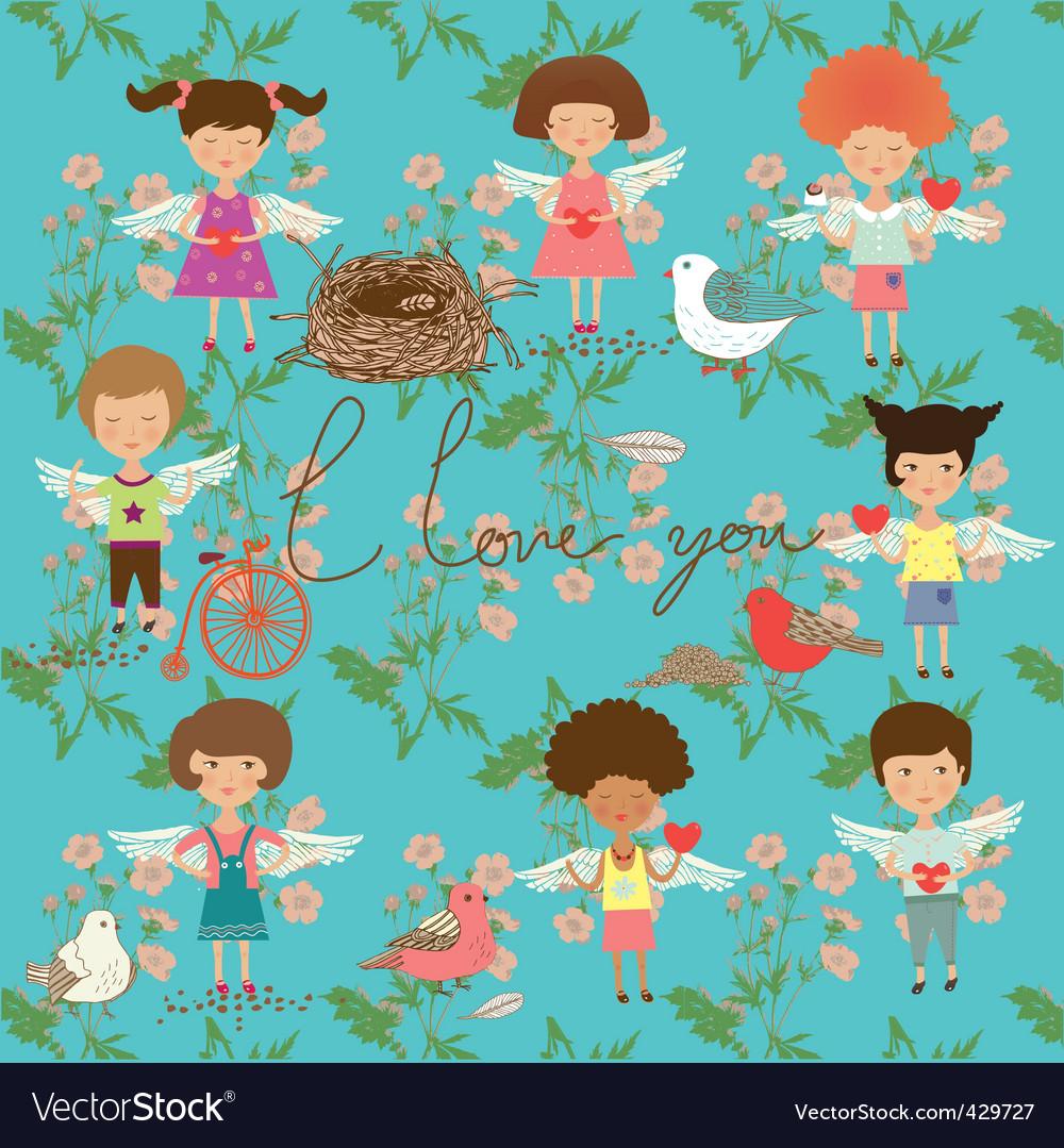 Cartoon children vector | Price: 1 Credit (USD $1)