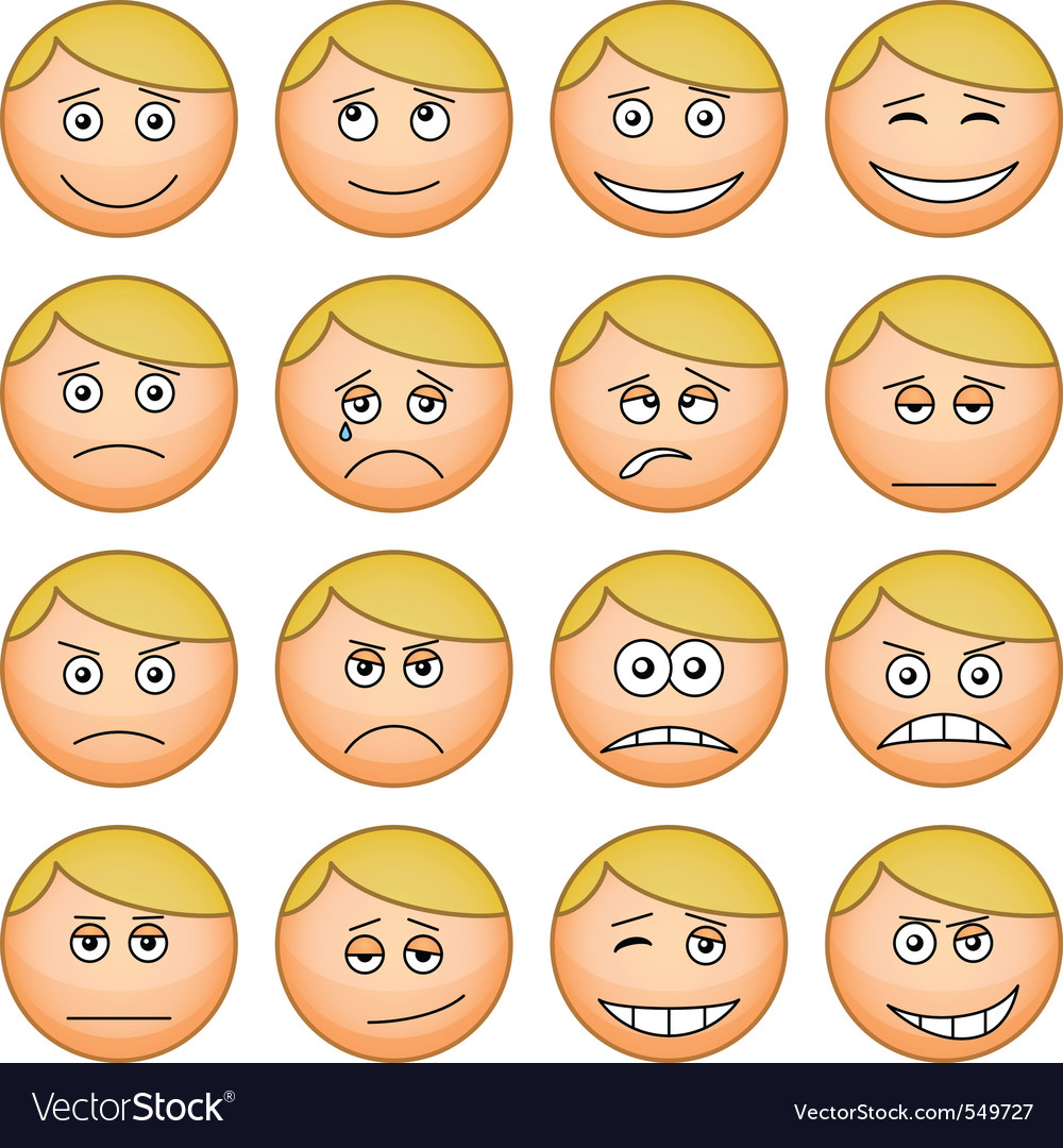 Cartoon faces vector | Price: 1 Credit (USD $1)