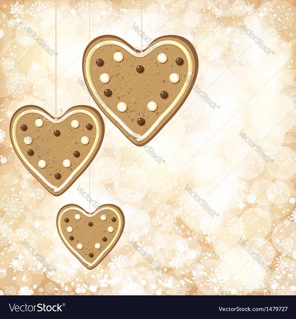 Christmas background with golden lights and vector | Price: 1 Credit (USD $1)