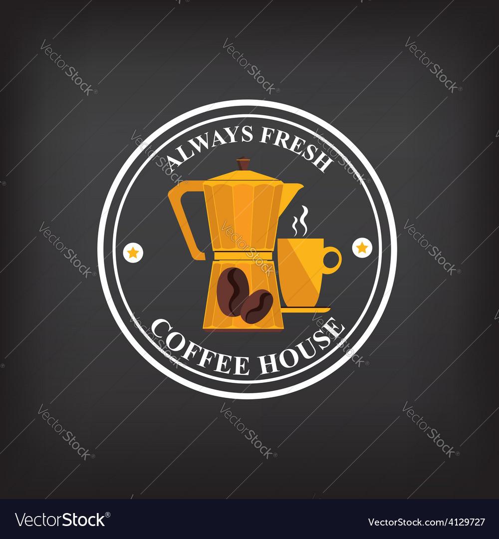 Coffe label vector | Price: 1 Credit (USD $1)