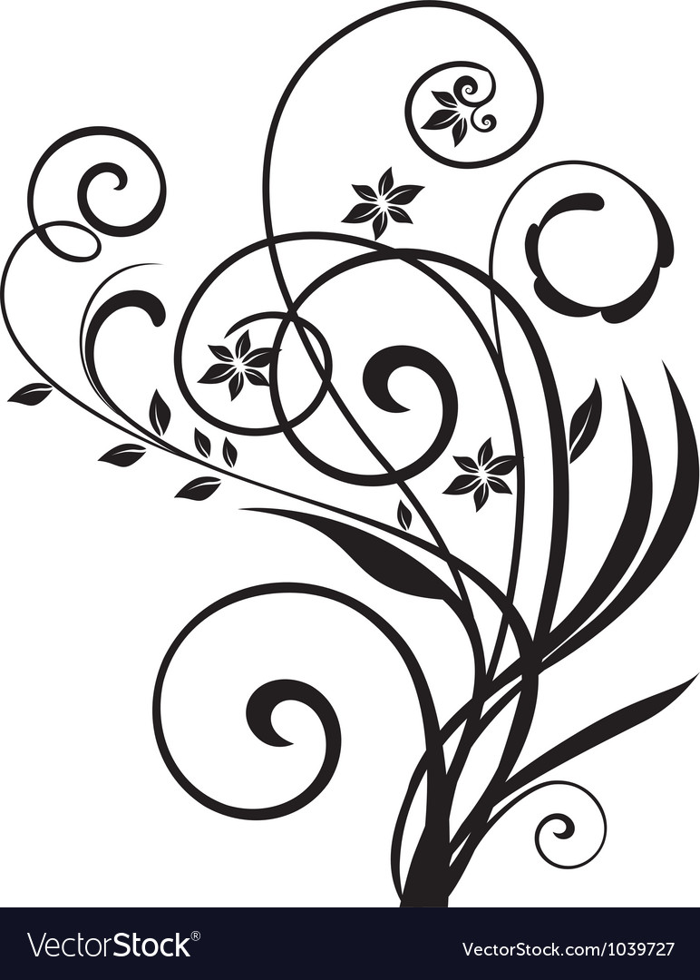Floral ornament vintage vector | Price: 1 Credit (USD $1)