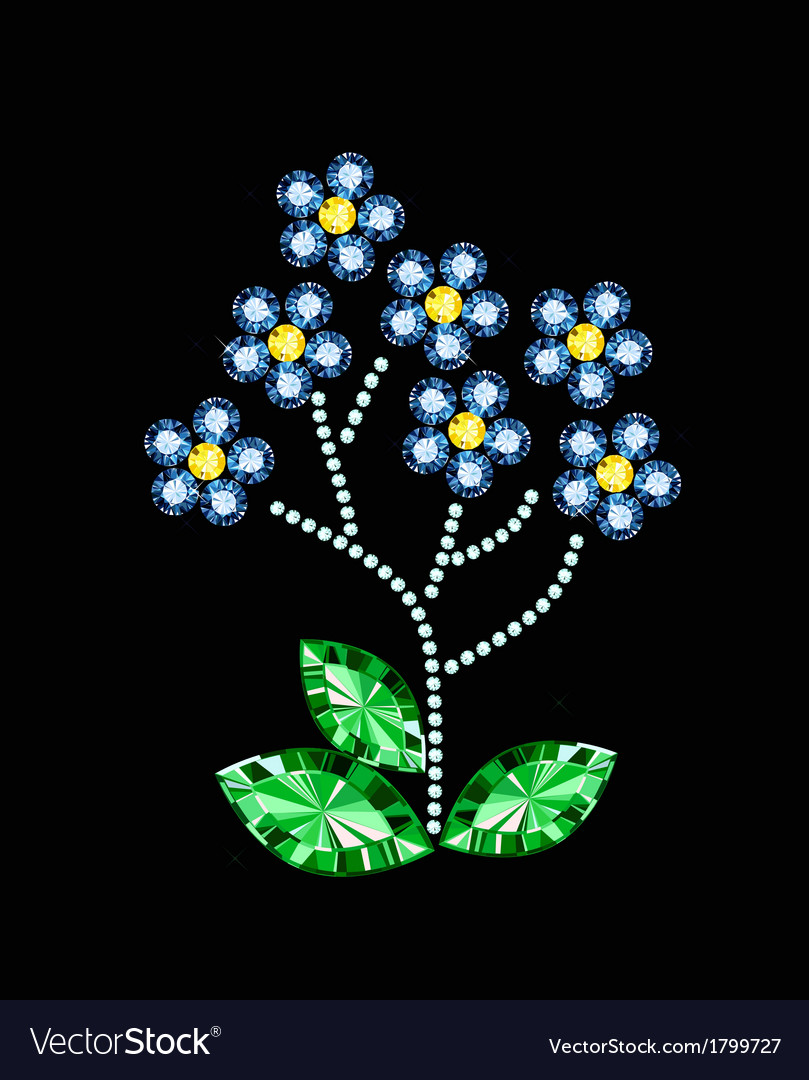 Gem flowers vector | Price: 1 Credit (USD $1)