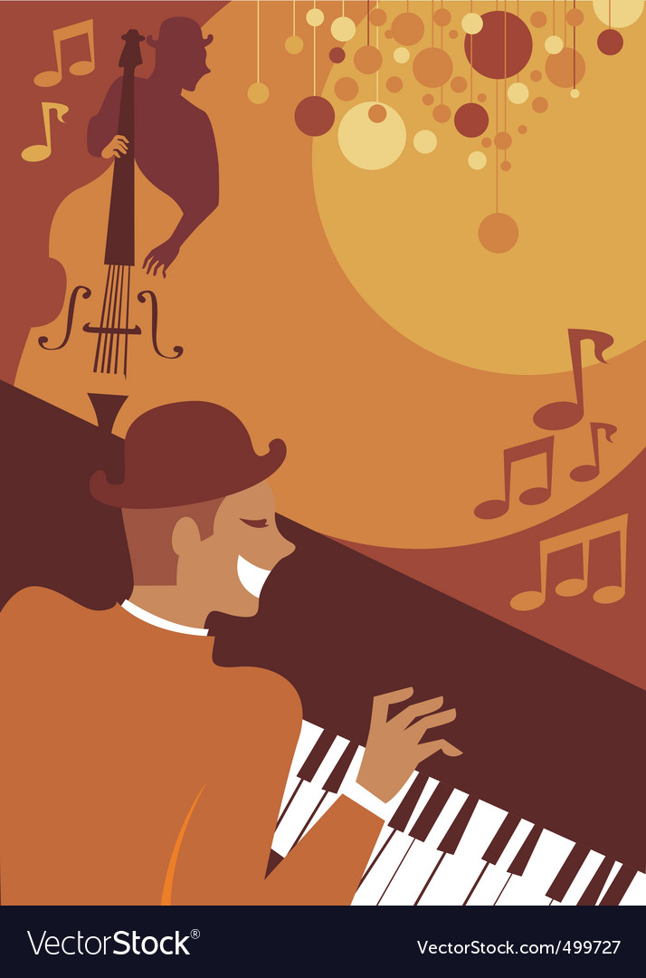Jazz evening vector | Price: 1 Credit (USD $1)