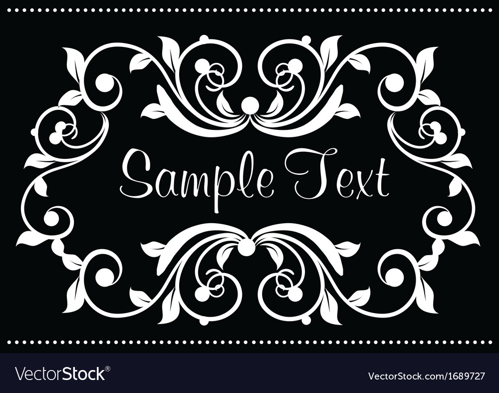Ornamental frame vector | Price: 1 Credit (USD $1)