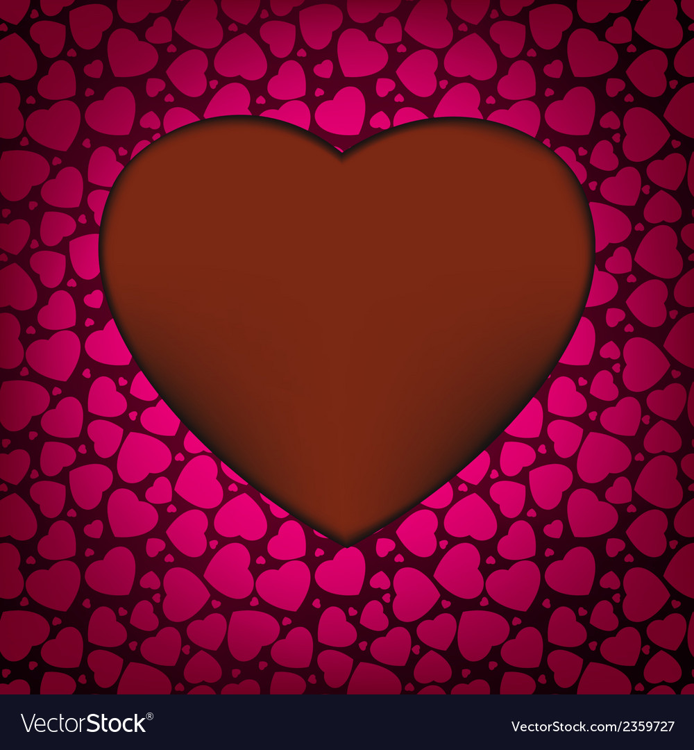 Red valentines day background with hearts eps 8 vector | Price: 1 Credit (USD $1)