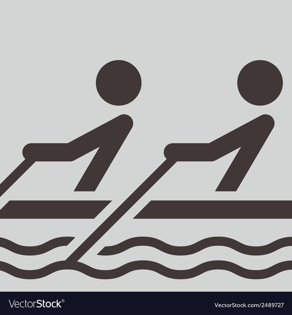 Rowing icon vector | Price: 1 Credit (USD $1)