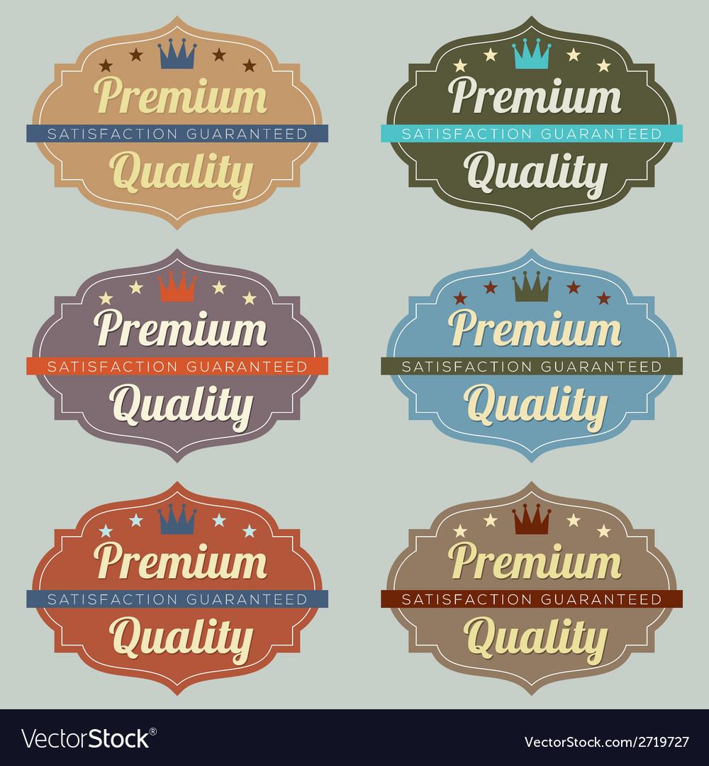 Set of vintage retro labels vector | Price: 1 Credit (USD $1)