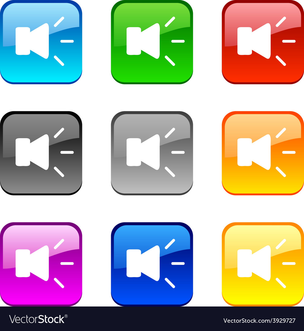 Sound buttons vector | Price: 1 Credit (USD $1)