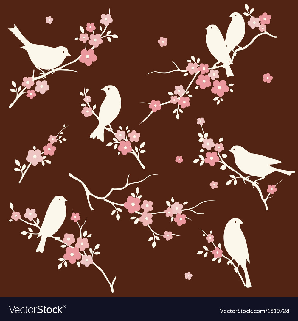 Bird and twig set vector | Price: 1 Credit (USD $1)